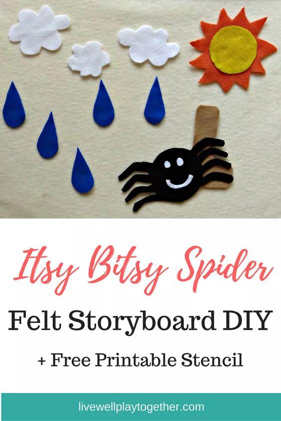 Itsy Bitsy Spider Felt Storyboard