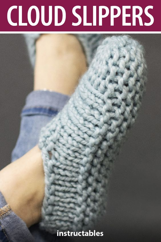 Knit Cloud Slippers