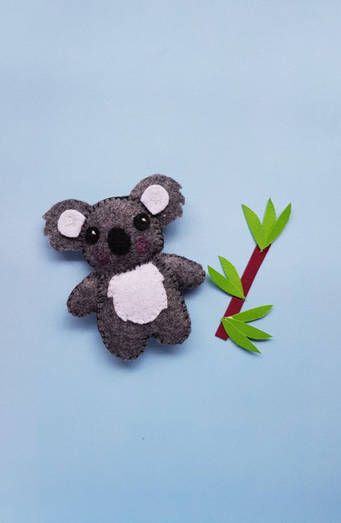 Koala Plushie Felt Craft