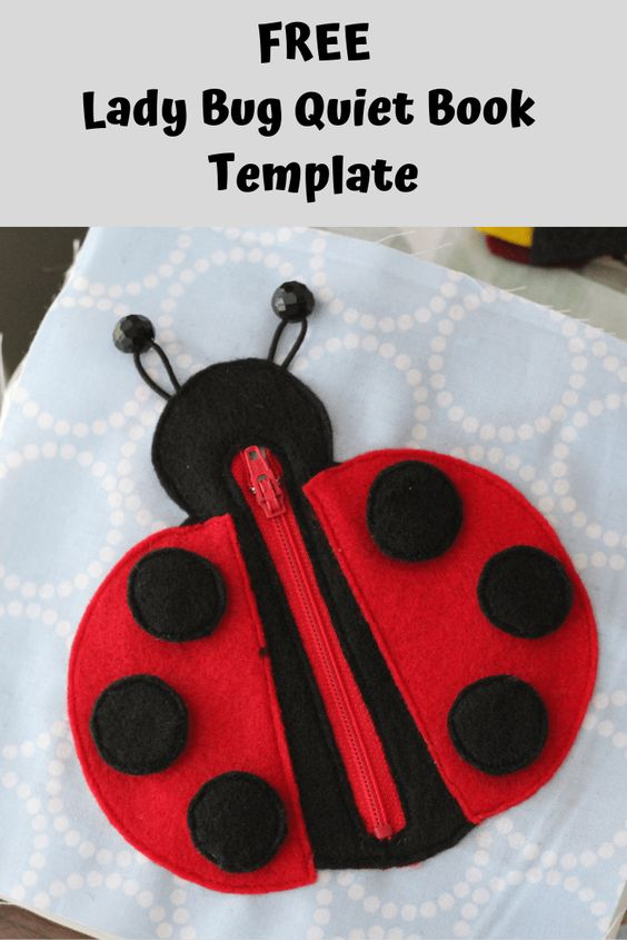 Ladybug Quiet Book Page Template