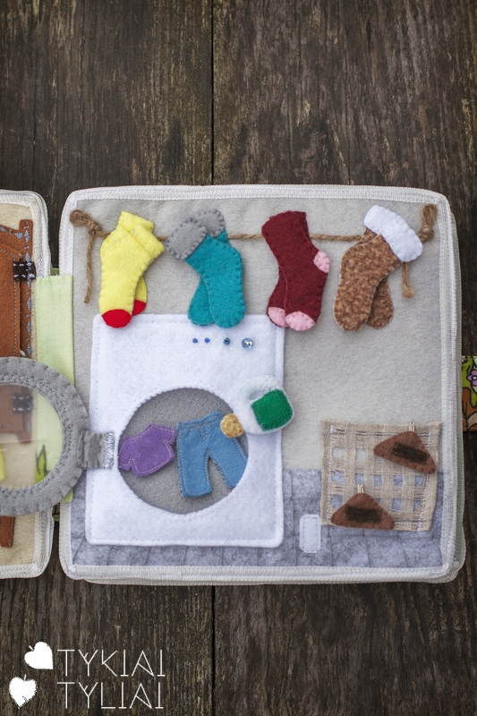 Laundry Quiet Book Activity