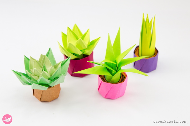 Mini Origami Succulents