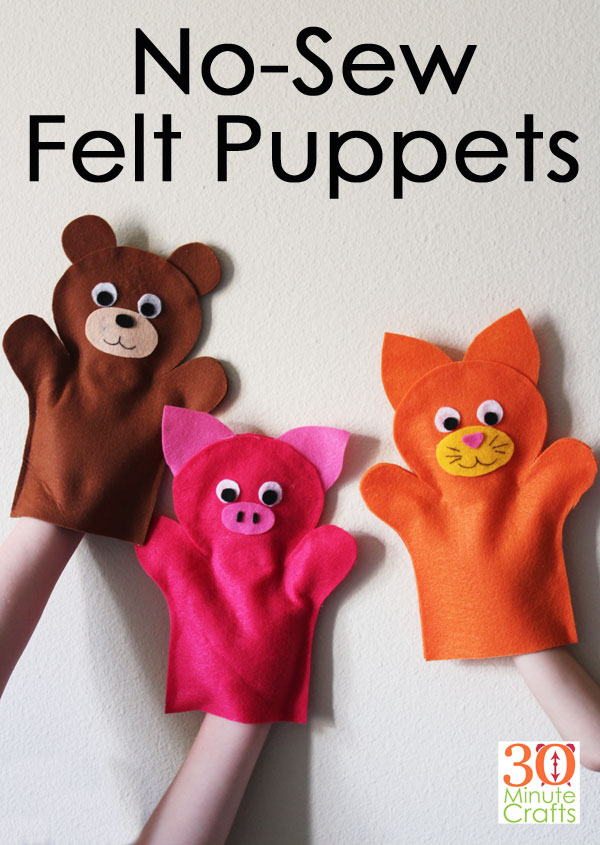 No-sew Felt Puppets