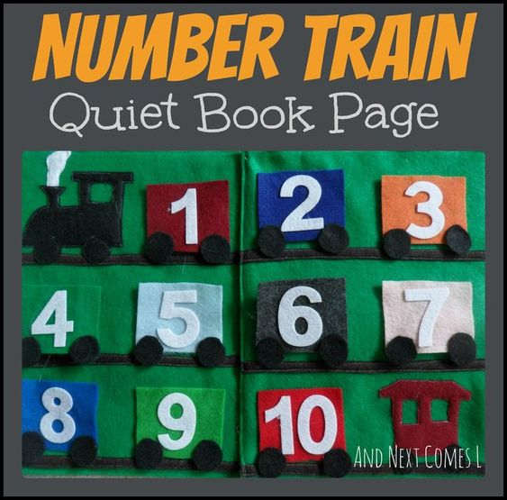 Number Train Quiet Book Page