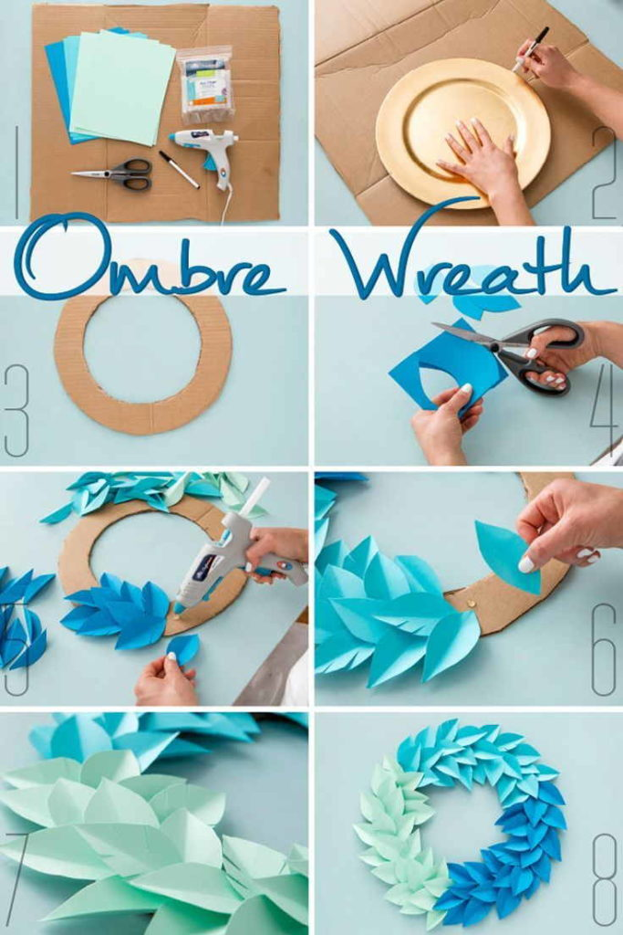 Ombre Paper Wreath