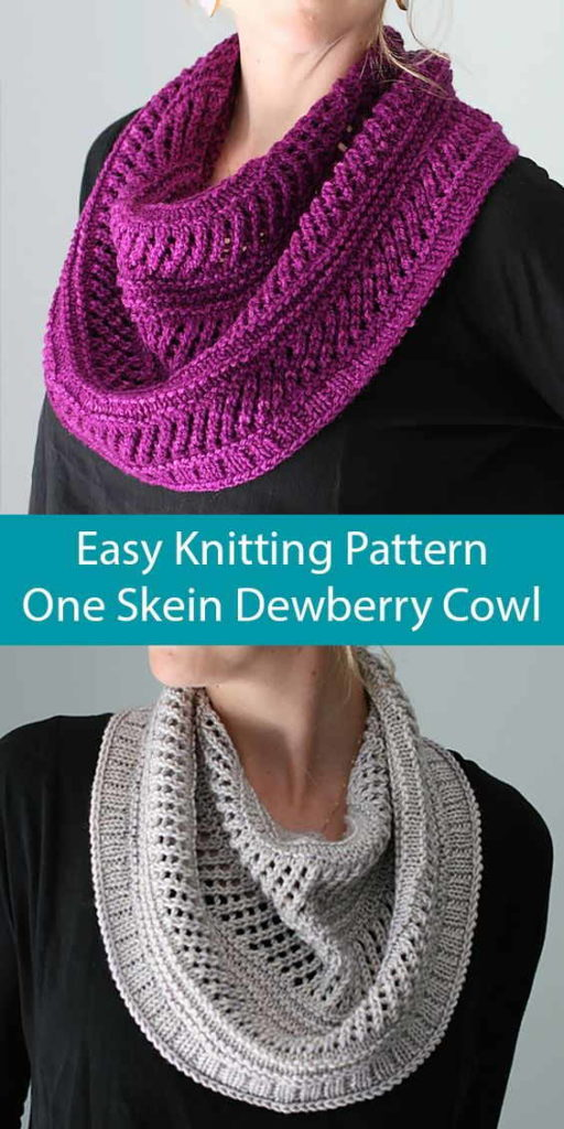 One Skein Knitted Cowl