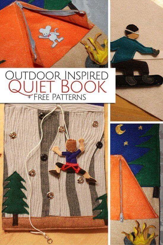Outdoor-inspired Quiet Book Activity
