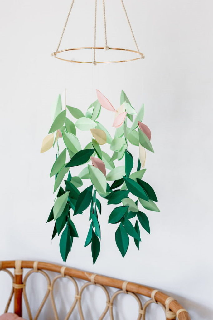 Paper Leaf Mobile