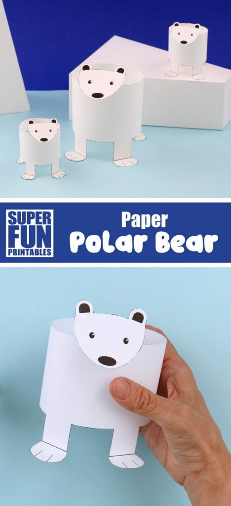 Printable Paper Polar Bears