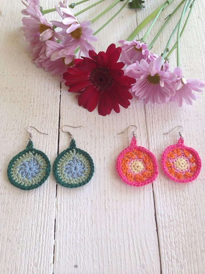 Quick and Easy Crochet Earrings