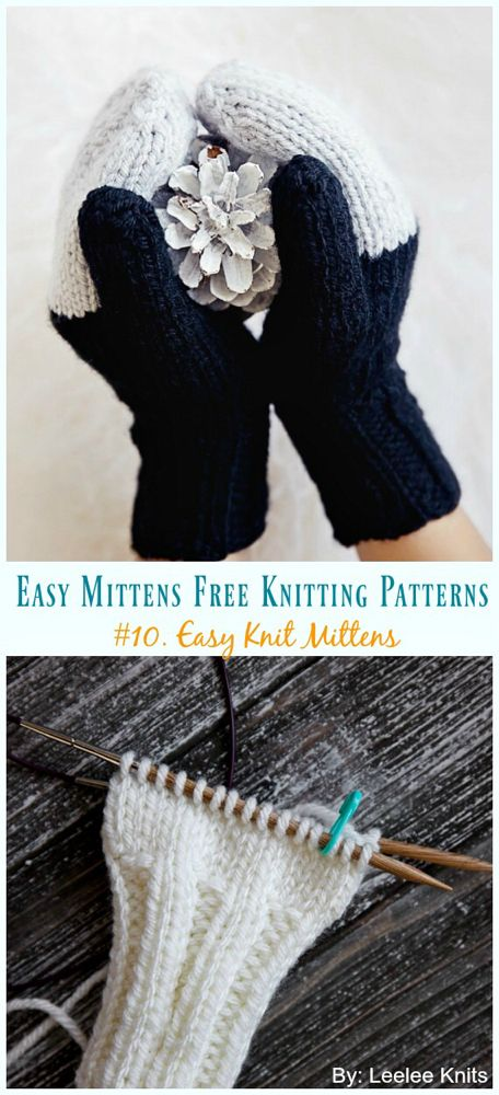 Quick and Easy Mittens Free Pattern