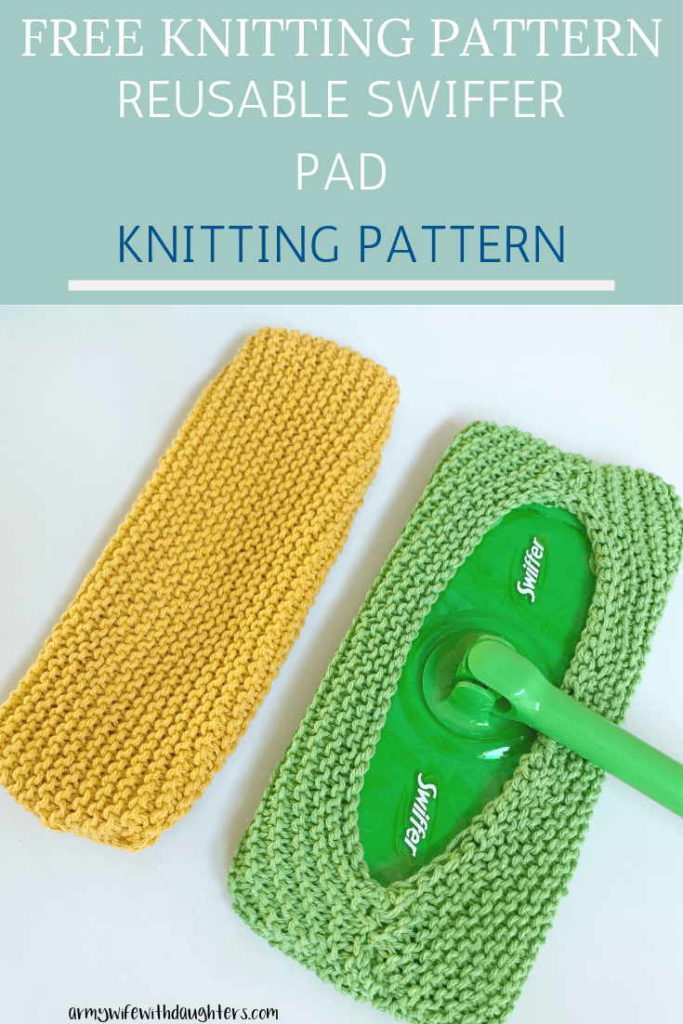 Reusable Knitted Swiffer Pad
