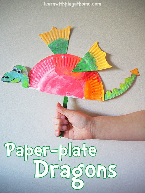 Simple Paper Plate Dragon
