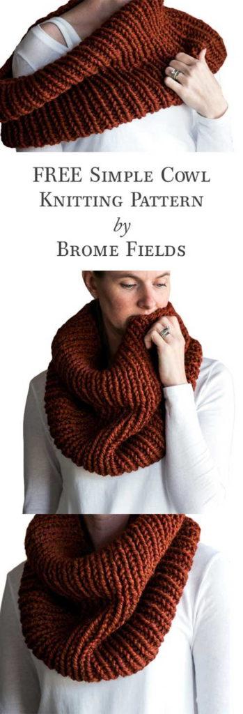 Simple Women's Cowl Knitting Pattern