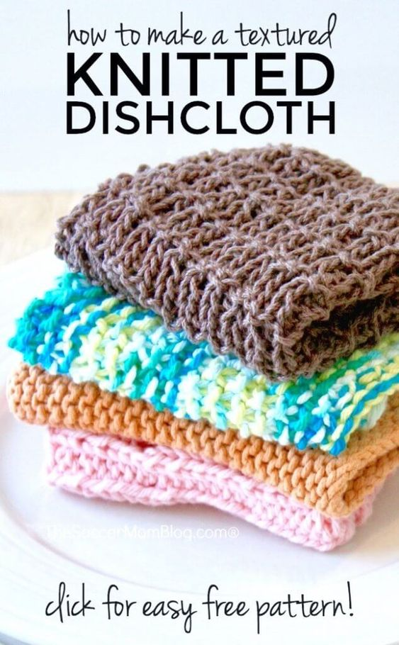 Textured Knitted Dishcloth