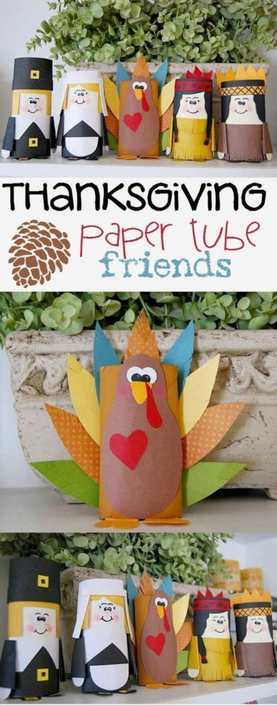 Thanksgiving Paper Tube Friends
