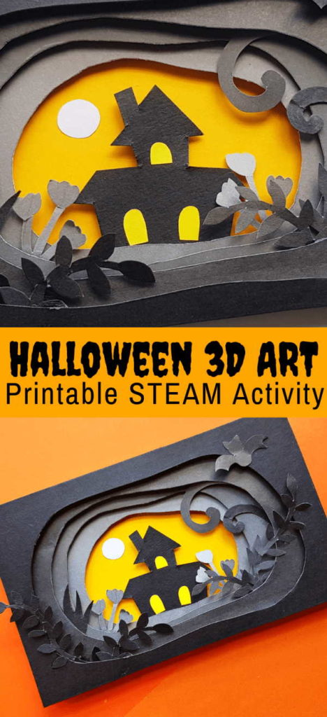 Three Dimensional Halloween Papercraft