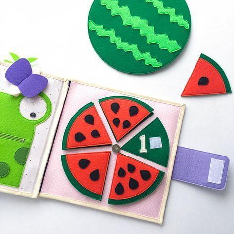 Watermelon Quiet Book Activity