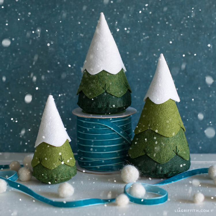 Whimsical Felt Trees