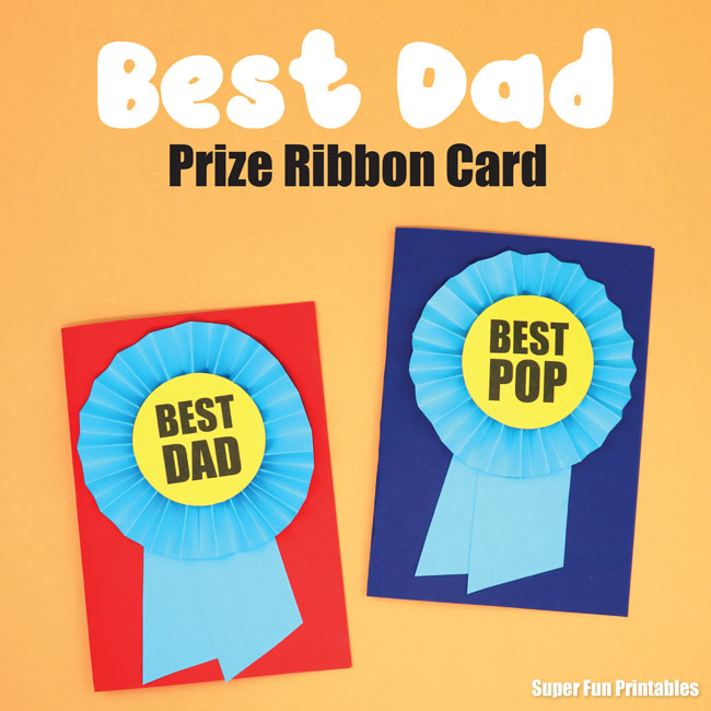 Best Dad Prize Ribbon Card