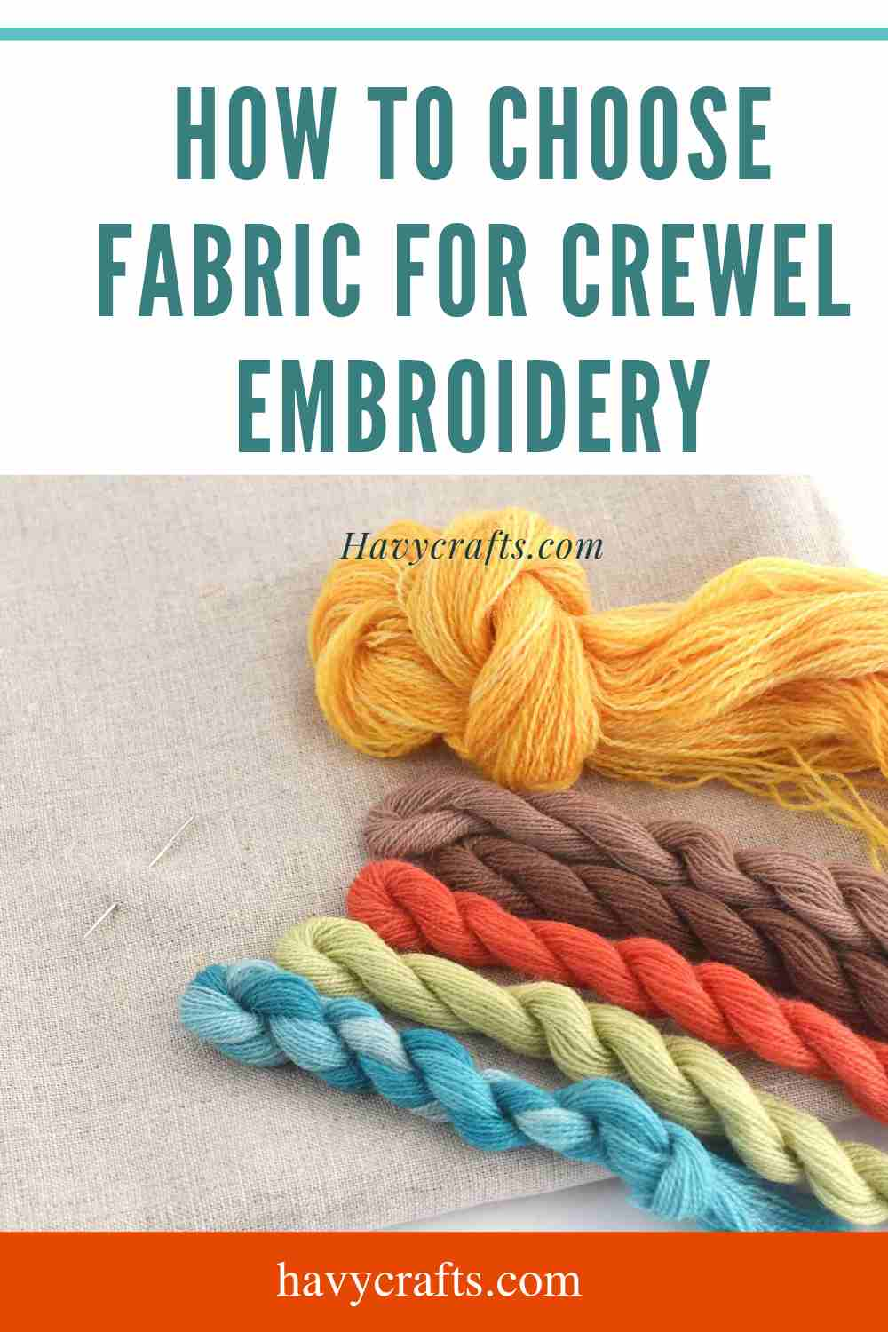 How to Choose Fabric for Crewel Embroidery