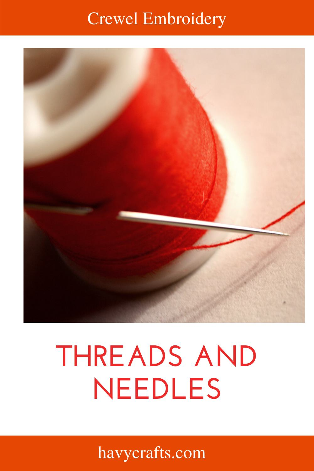 How to Choose Threads and Needles for Crewel Embroidery