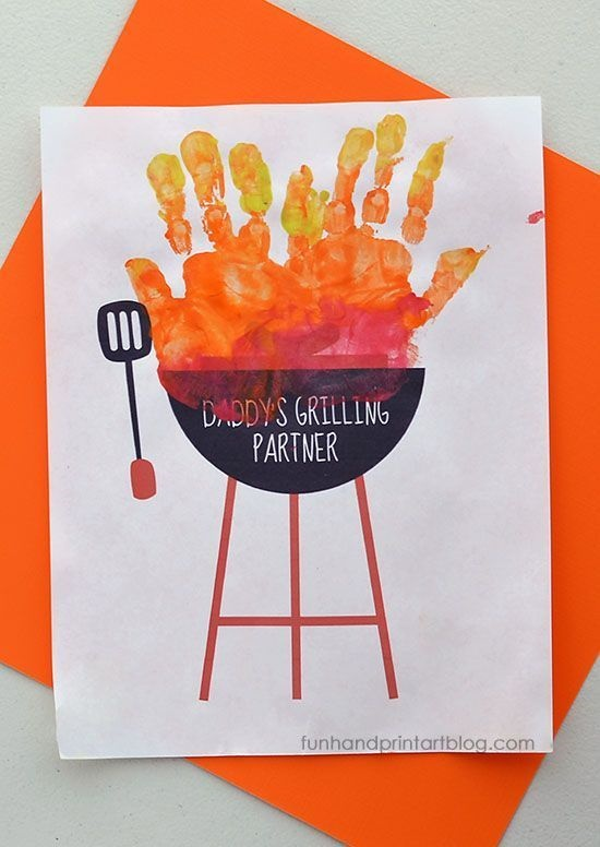 Handprint Grill For the BBQ-lover Dad