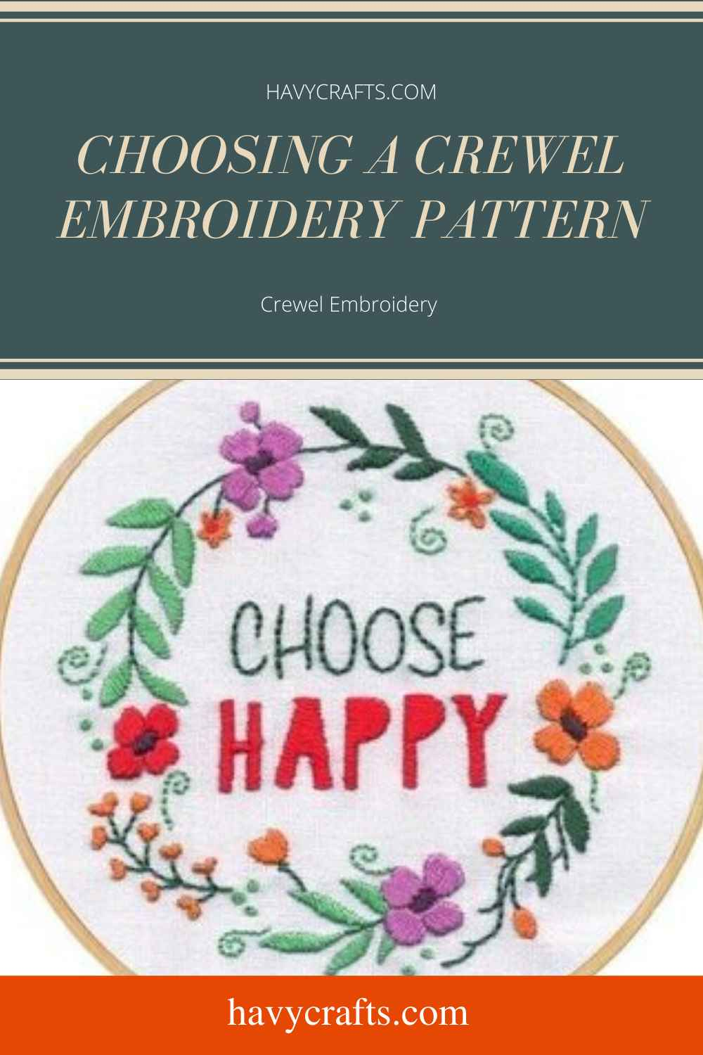 Choosing a Crewel Embroidery Pattern