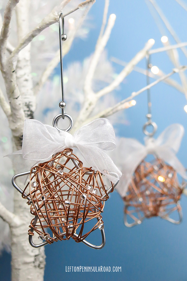 Beaded Wire Christmas Ornament