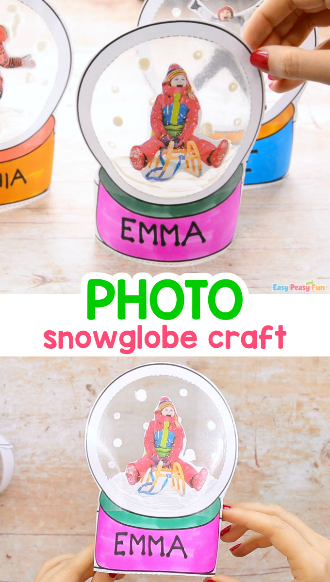 Photo Snow Globe Craft for Kids