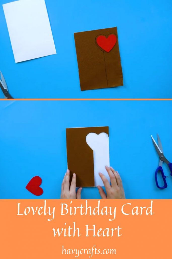Step 3 of Birthday card in heart shape