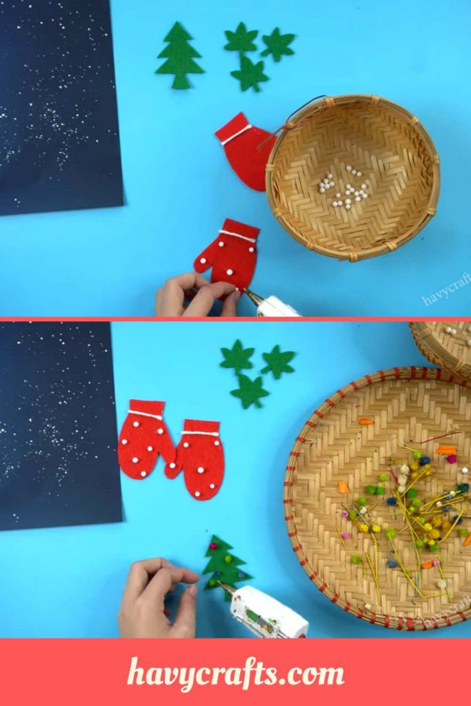 Decorating Christmas card easily