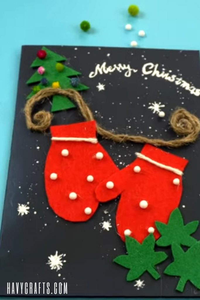 A beautiful Christmas card for card craft ideas