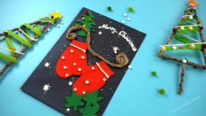 feature of handmade Christmas card