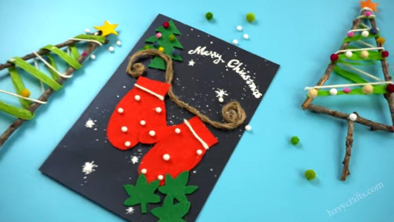 feature of handmade Christmas card