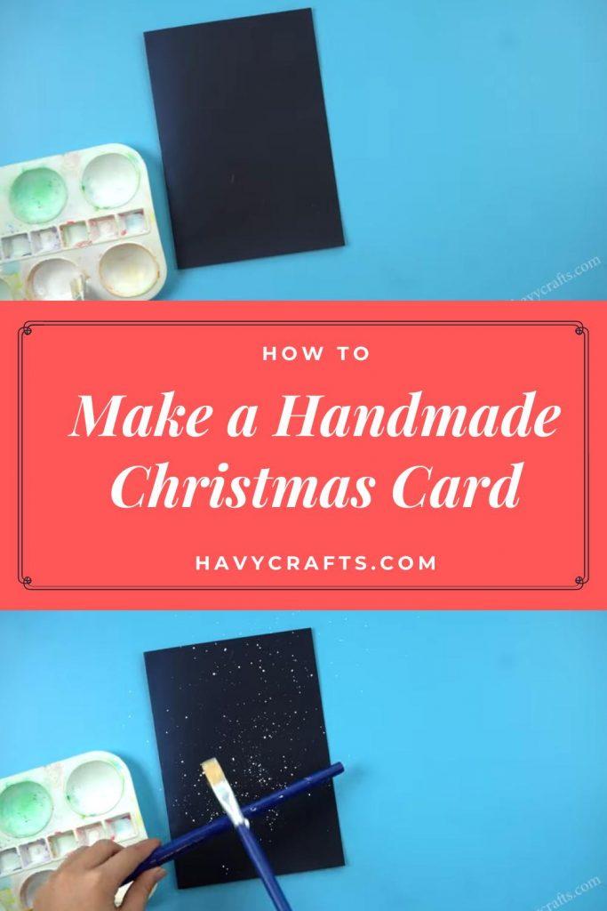 prepare paper Christmas card