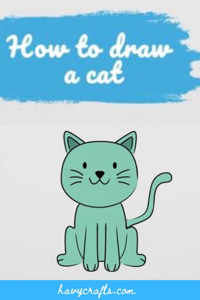 How to draw a pretty cat