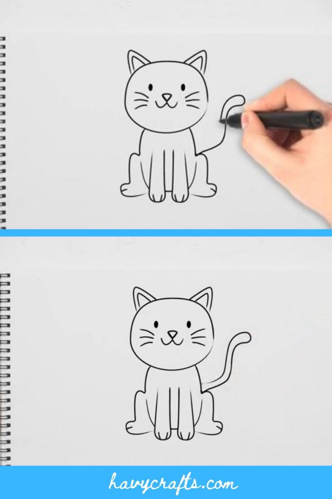 Draw tail for the cat