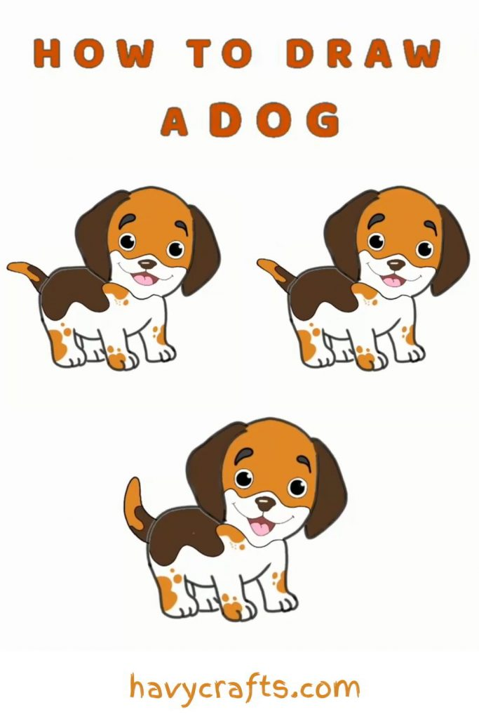 A cute dog tutorial for kids