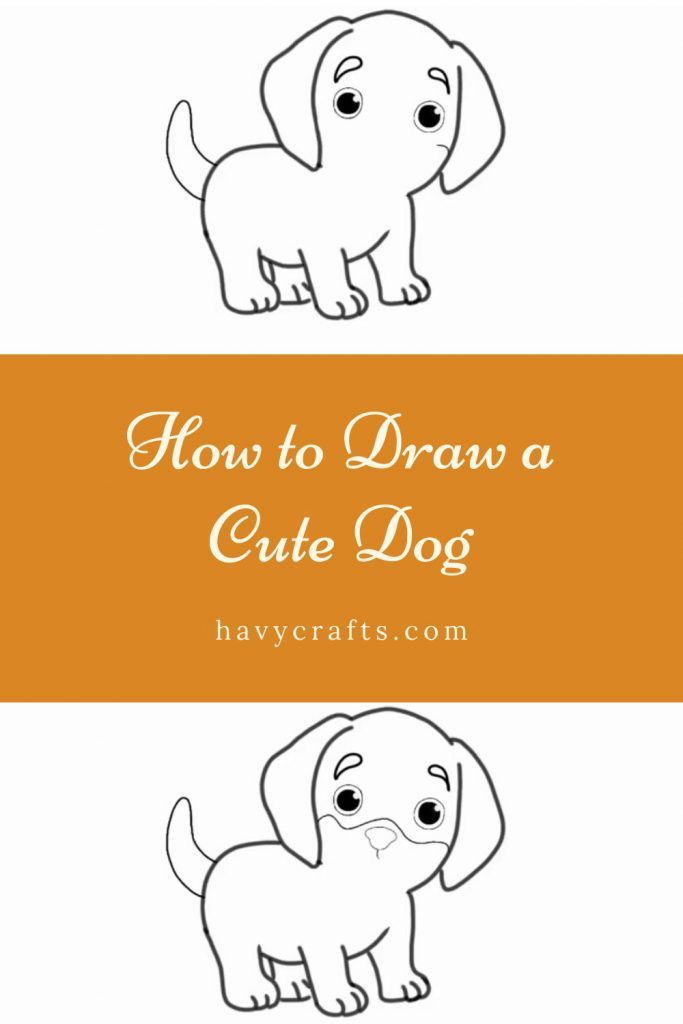 Drawing the dog's nose