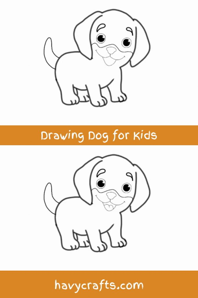 Drawing the dog's tongue