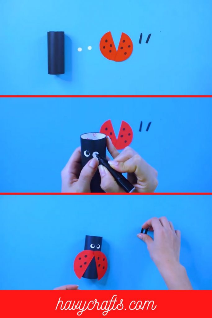 Combine to make a perfect ladybug craft