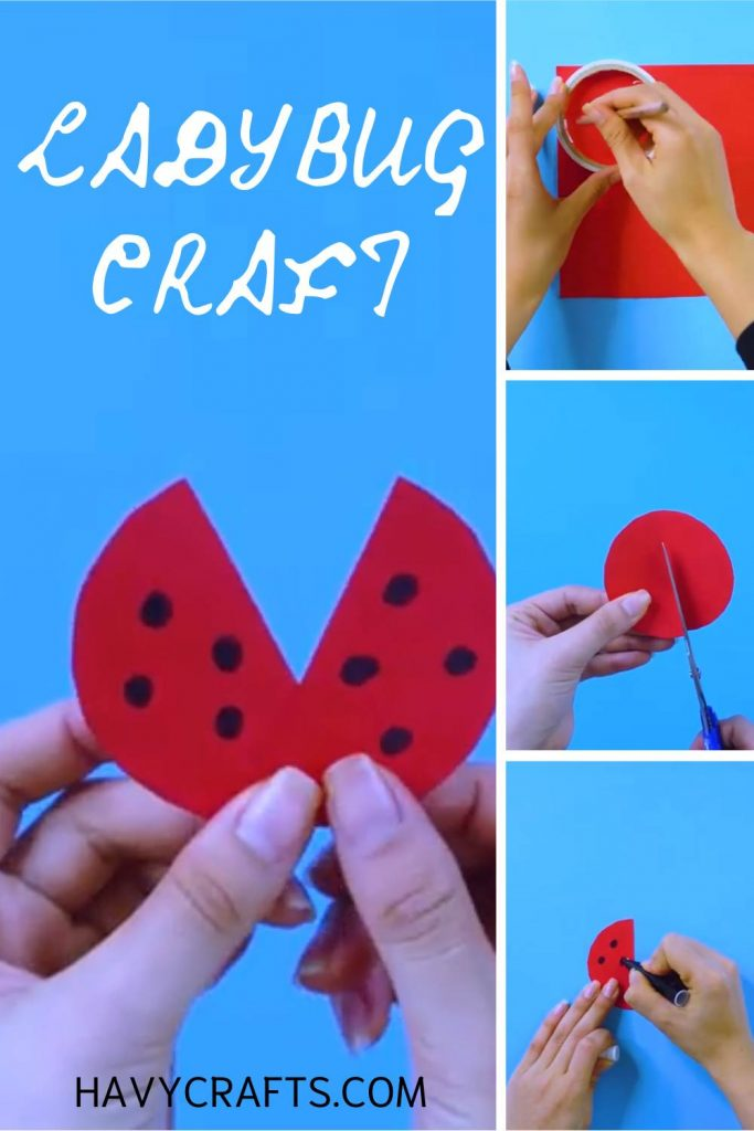 Make wings for ladybug craft