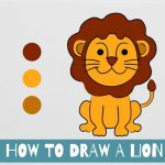 feature of lion drawing