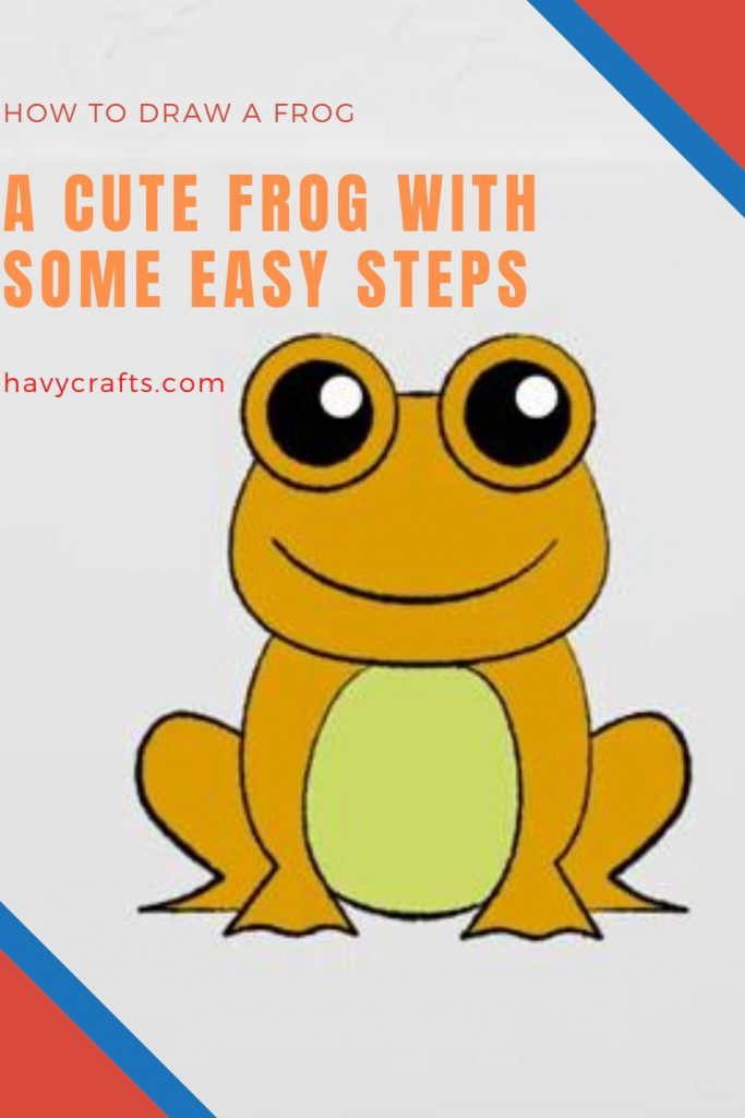 How to draw a frog to add an easy drawing of animals for kids