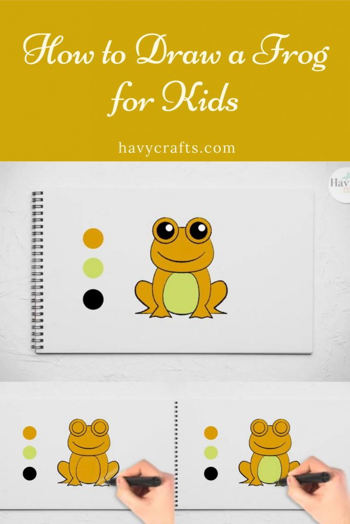 Color a frog drawing