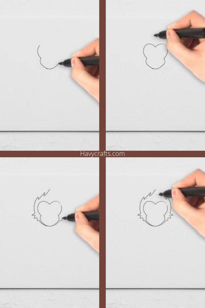 Draw the monkey's head