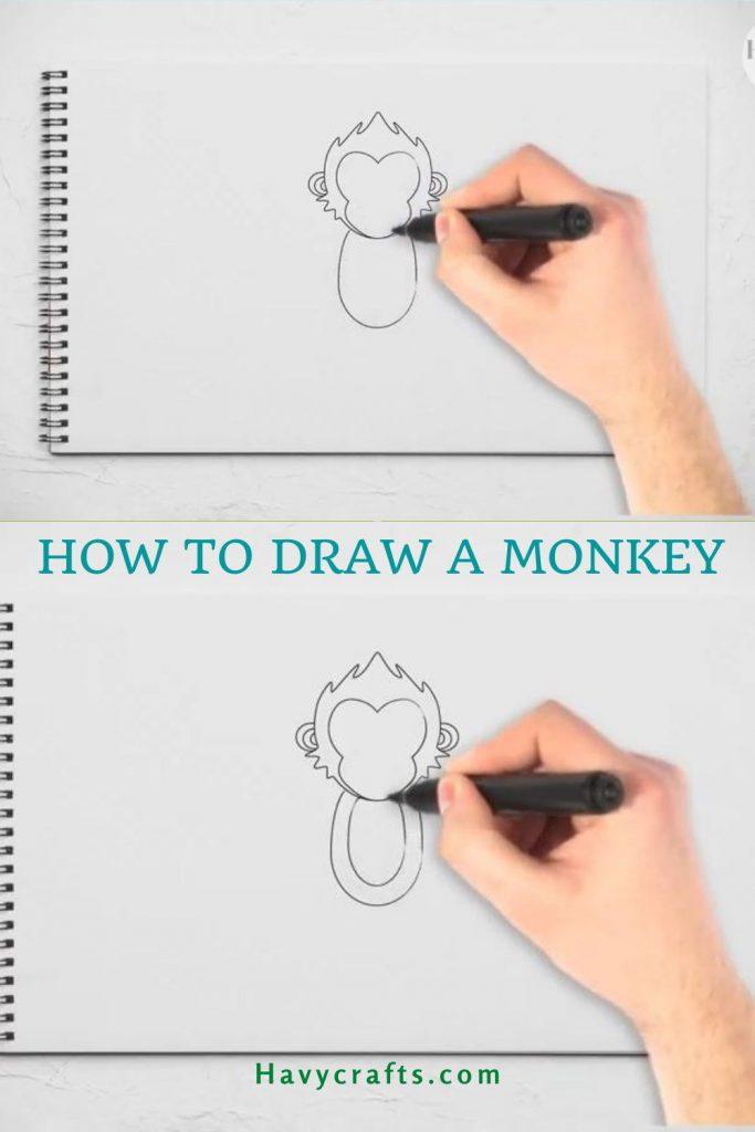 Draw the monkey's body