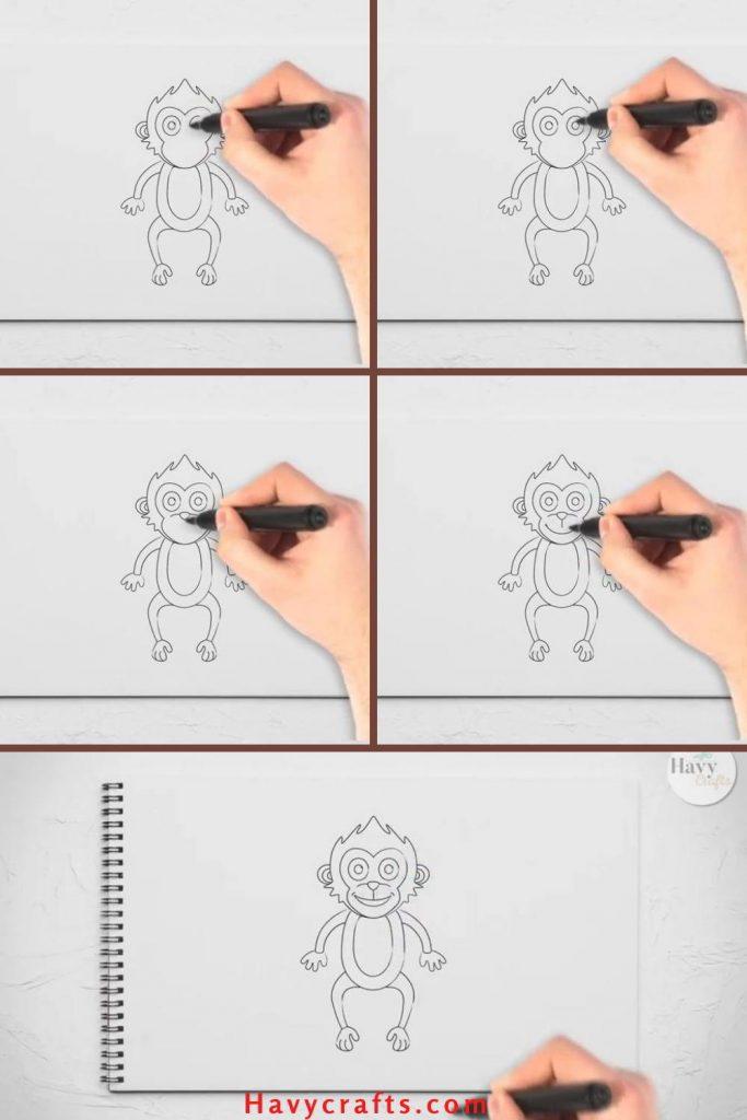 Finalize a monkey drawing